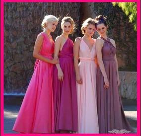 Vestido Convertible Talla Chica Color Uva O Rosa Fiusha