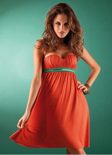 vestido coral com bojo - maravilhoso!!!