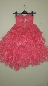 Vestido Coral Esponjado Reina Falda Desmontable Niña