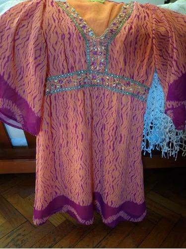 vestido coral rapsodia bordado en piedras de  india!! jazmin