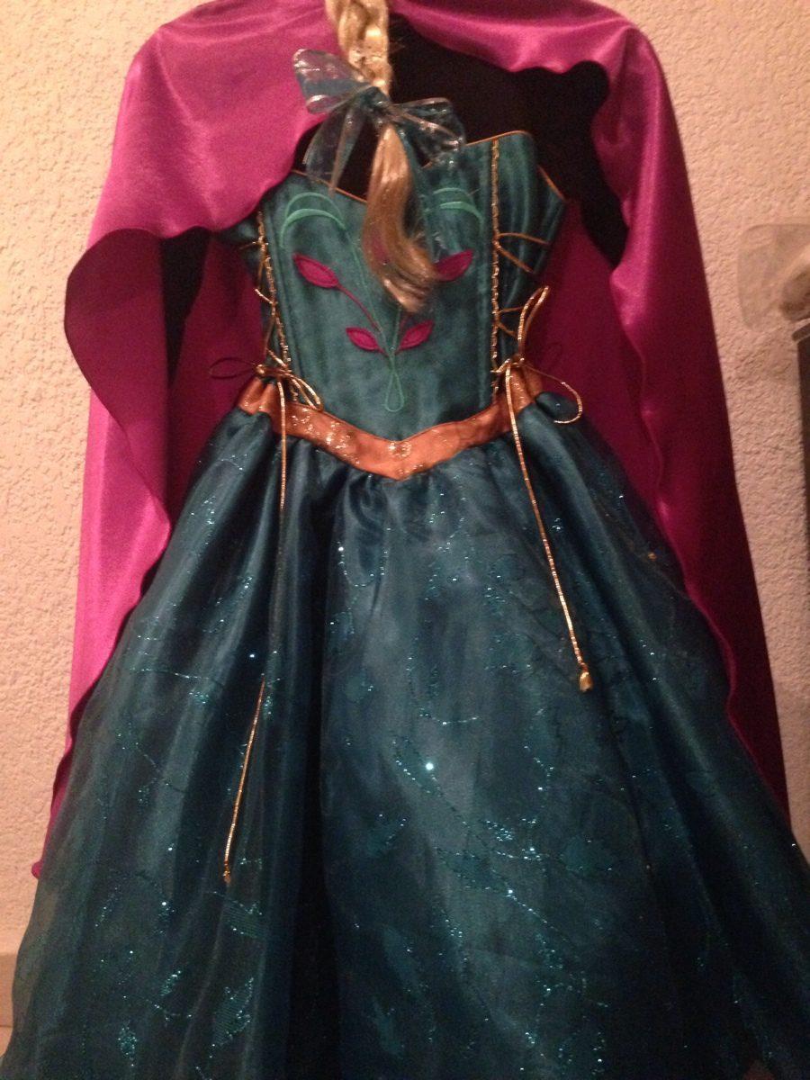 vestido coronacion a reina elsa frozen con peluca y corona