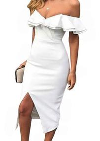 98aa9b3aa848 Vestido Blanco Corte Lapiz - Vestidos de Mujer Piel en Mercado Libre ...