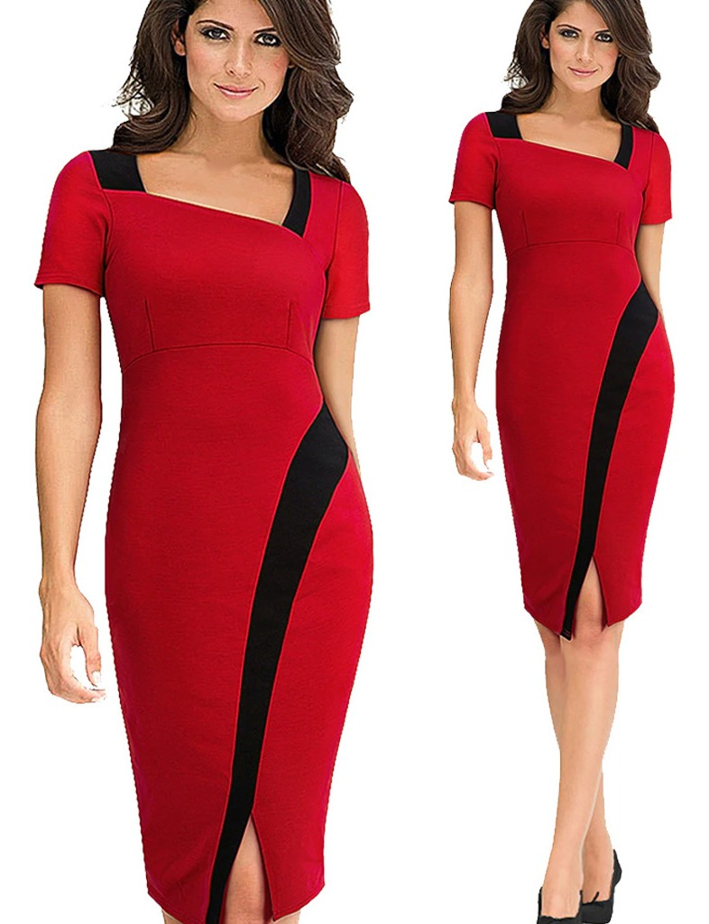 cliente primero mejor online sitio web para descuento Vestido Corte Lápiz Elegnte Y Formal Para Señora Y Joven