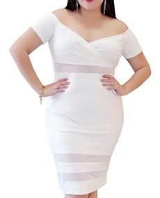 d3c18600d612 Vestido Blanco Corte Lapiz - Vestidos de Mujer Corto Blanco en ...