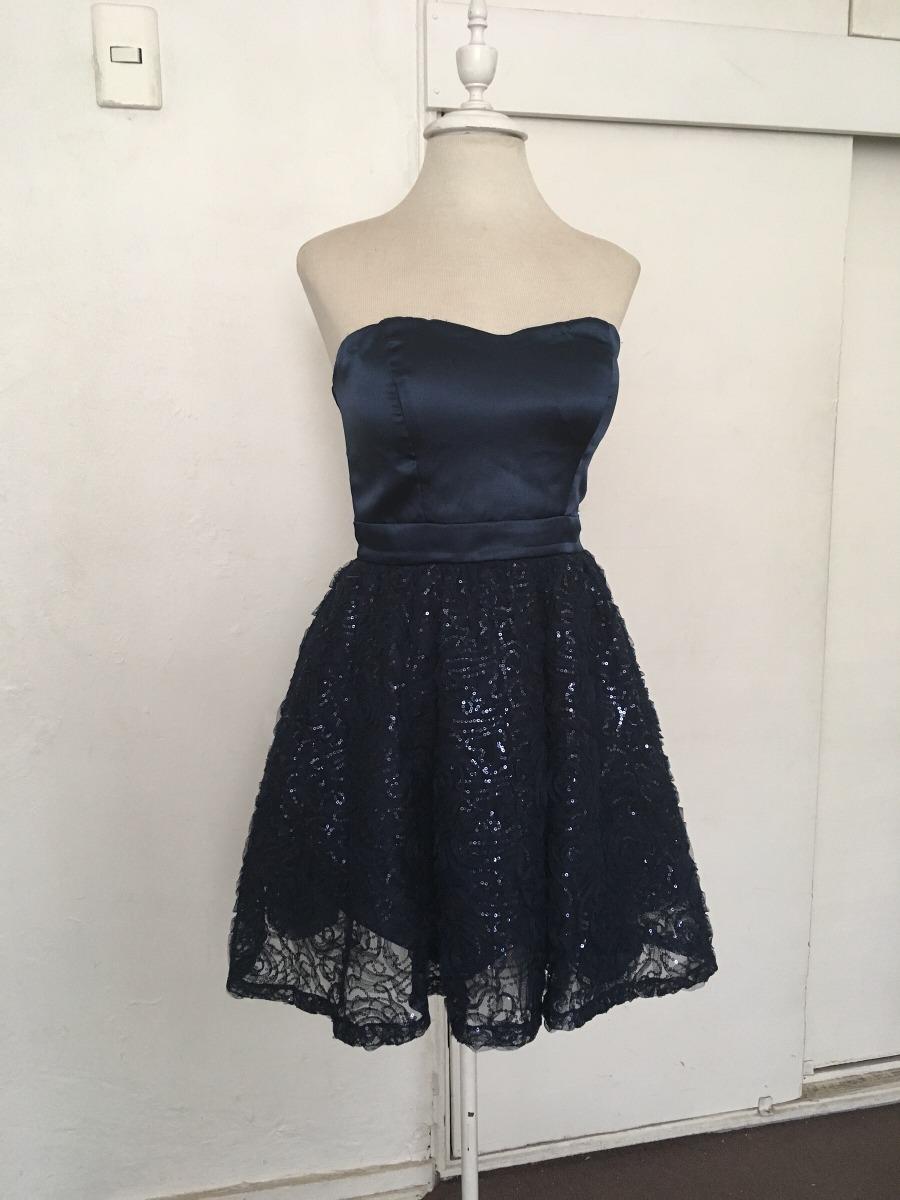 buscar autorización zapatos clasicos bebé Vestido Corto Azul Marino Fiesta - $ 16.000