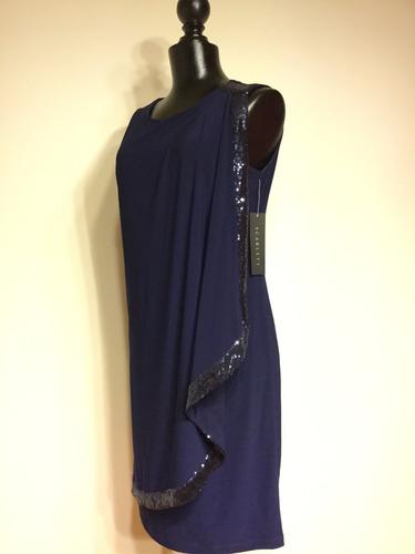 vestido corto azul marino (navy) para cóctel