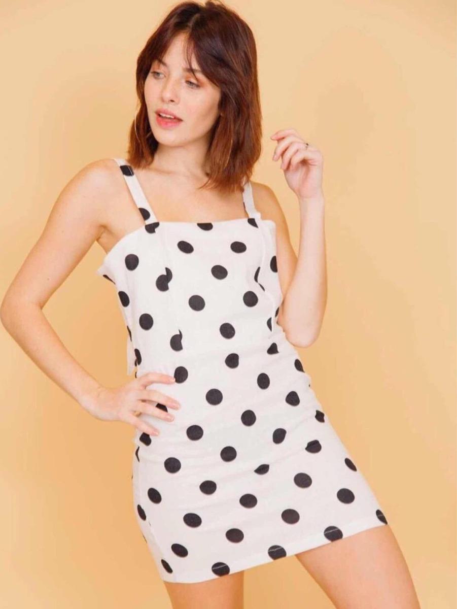 7689b856d81 vestido corto blanco lunares de lino mujer verano. Cargando zoom.