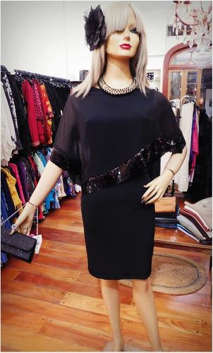 vestido corto c/ capa de gasa fiesta - todos los talles!!