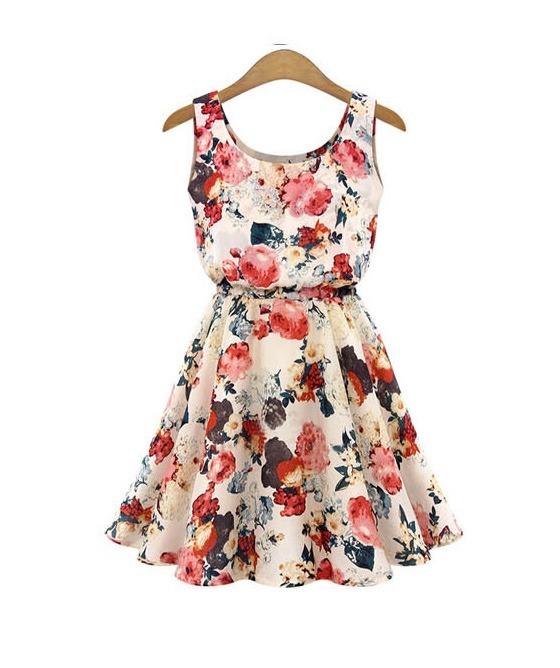Venta de vestidos floreados cortos