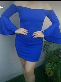 Vestido Corto Casual Color Azul Rey Unitalla
