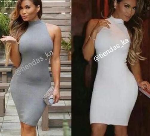 Vestidos cortos de tela licra