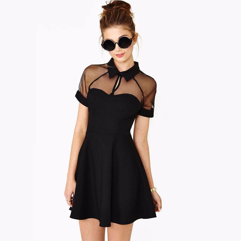 Vestido Corto Casual Vestidos Negro Coctel Talla Mediana Fie
