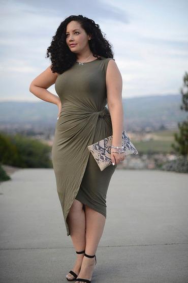 Vestidos cortos con falda cruzada