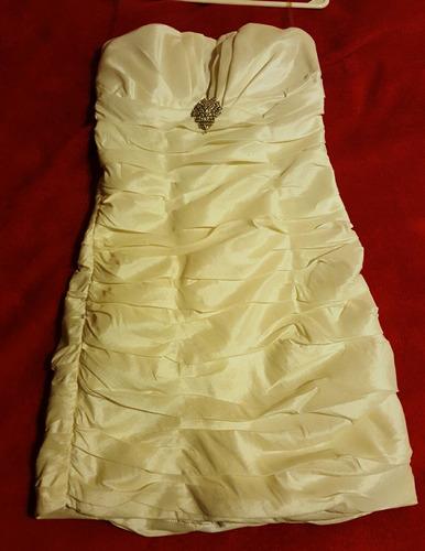 vestido corto color champagne