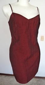 Vestido Color Guinda Vestidos De Mujer Corto Liso En
