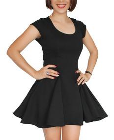 Vestidos Circulares Con Manga Casuales Cortos Mujer Puebla