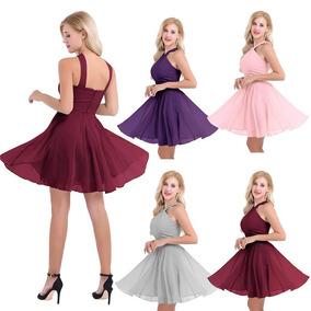 Vestidos Cortos De Fiesta Dia Vestidos Corto Rosa Claro En