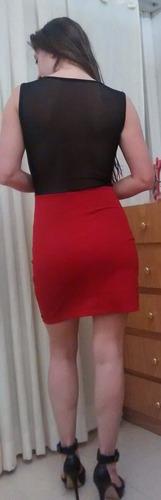 vestido corto con transparencias ideal noche