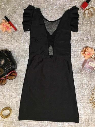 vestido corto con tul color negro nuevo fiestas, eventos