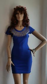 Vestido Corto De Fiesta Azul Rey