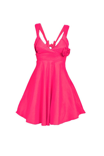 vestido corto de fiesta con bretéles, brishka, m-0001