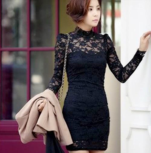 Vestidos fiesta manga larga encaje – Vestidos baratos 09632a148952