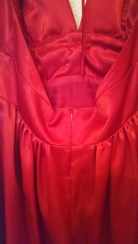 vestido corto de fiesta graduación rojo talla 7/m seminuevo