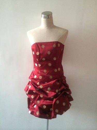 vestido corto de fiesta marca jessica mcclintock talla s