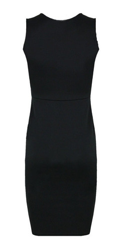 vestido corto de fiesta moderno escote redondo poli?ster pu