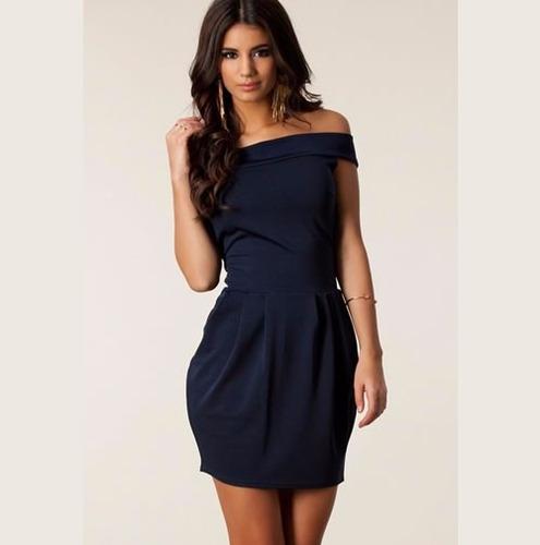 vestido corto de fiesta sexy juvenil moderno elegante 2670