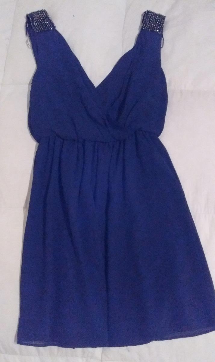 Vestido azul lentejuelas zara
