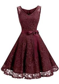 Vestido Corto De Graduacion Para Mujer Diseño Floral Cuel