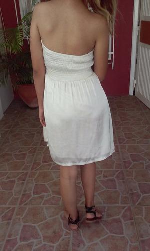 vestido corto de noche tipo top talla m marca aggie