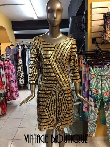 vestido corto  dorado !!!!!!!!!!!!