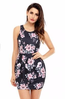 31e700d439 Vestido Corto En Tirantes Estampado Floral -   550.00 en Mercado Libre