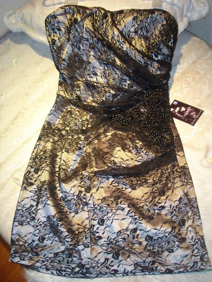 Vestidos de encaje bordado cortos