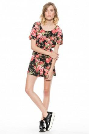 9457dc3b4 Vestido Corto Estampado Floral Zaf -   429