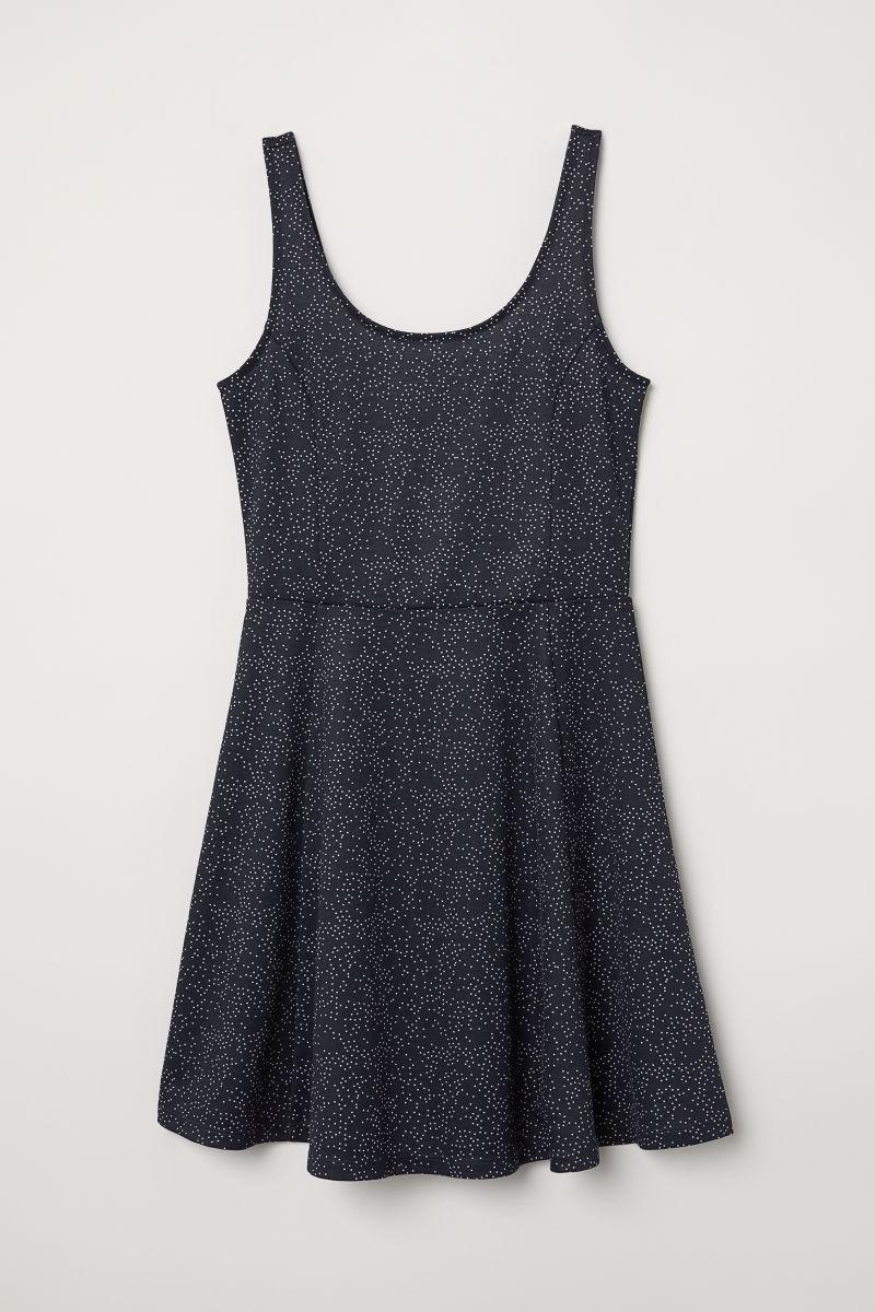 comprar lujo amplia selección de colores buena reputación Vestido Corto Estampado H&m Jersey - Blackcloset