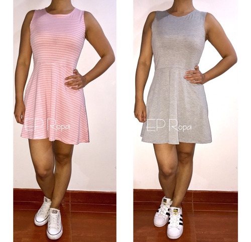 vestido corto falda rotonda juvenil casual envío gratis