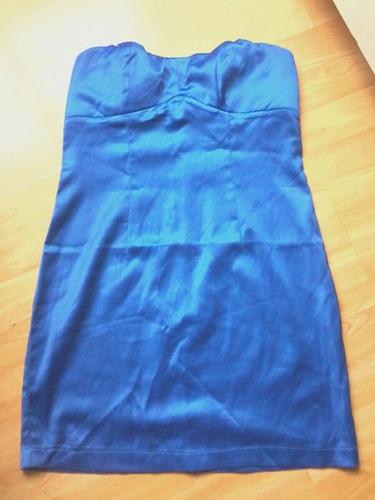 vestido corto fiesta azulino.opposite night,m.