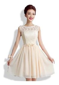 artesanía exquisita moderno y elegante en moda descuento más bajo Vestido De Fiesta Color Champagne - Vestidos Graduación ...
