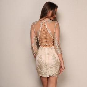 Vestido coctel escote espalda