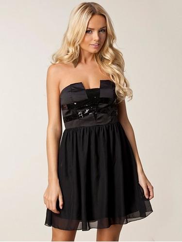 vestido corto fiesta negro milano