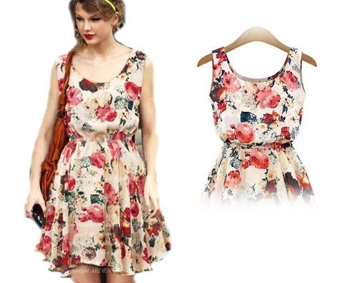 vestido corto floriado (010142) elbauldecorina