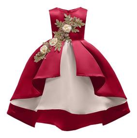 Vestido Corto Grown Niñas Fiesta Elegantes Floreado 5colores