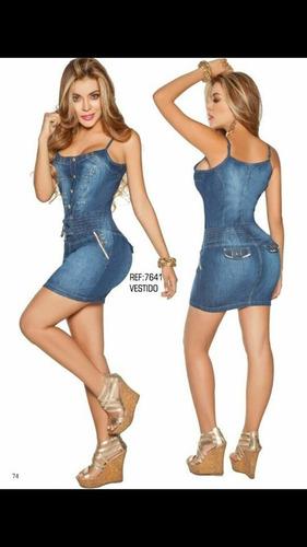 vestido corto jean moda sexy strech