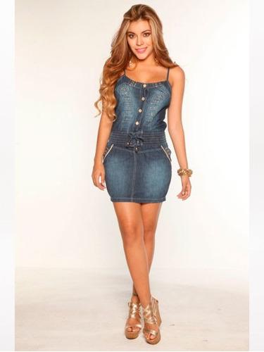 vestido corto jean moda sexy stretch