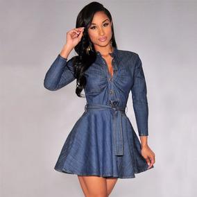 Vestidos de blue jean cortos