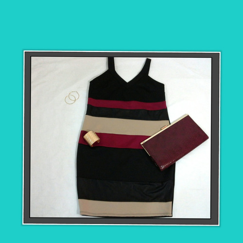 vestido corto manga siza