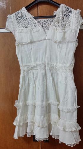 vestido corto mini blanco encaje french connection small